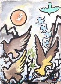BIRDS IN THE MOUNTAIN by Markey Robinson at Ross's Auctions