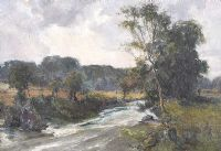 TREES BY THE RIVER by William Gibbs Mackenzie ARHA at Ross's Auctions