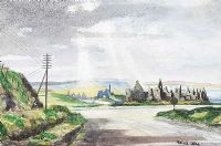 DUNLUCE CASTLE, COUNTY ANTRIM by Edward Lake at Ross's Auctions