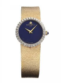 BAUME & MERCIER 18CT GOLD DIAMOND AND LAPUS LAZULI WATCH at Ross's Jewellery Auctions