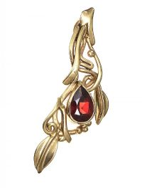 9CT GOLD GARNET PENDANT at Ross's Jewellery Auctions