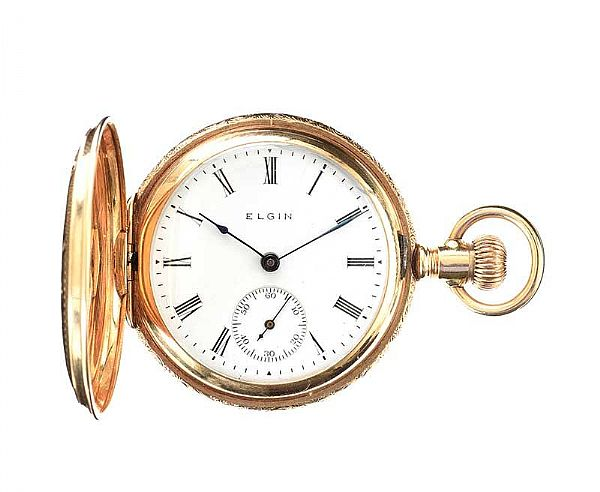 14CT GOLD ENGRAVED LADY'S POCKET WATCH at Ross's Online Art Auctions