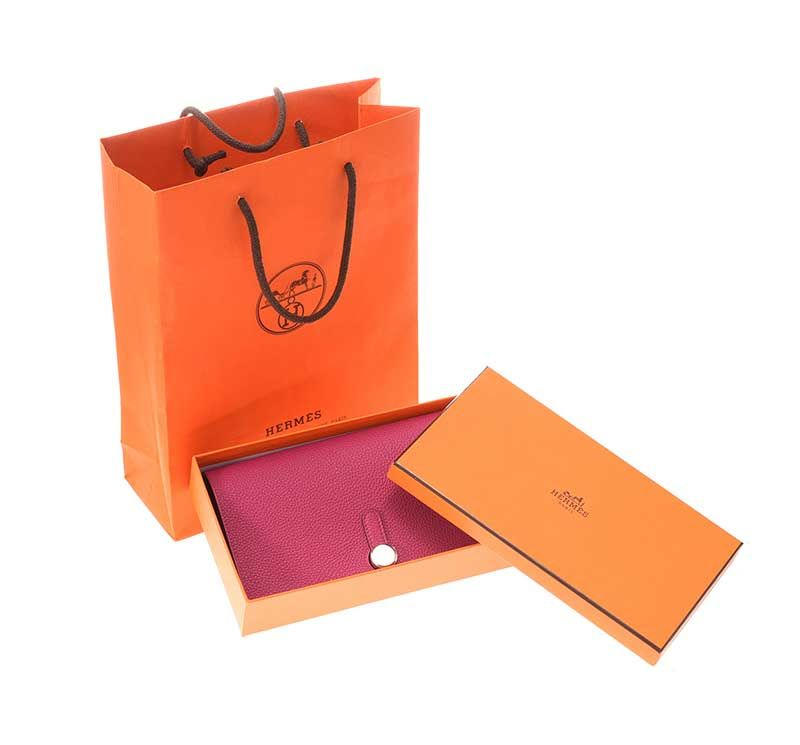 HERMES 'DOGON DUO' LADY'S WALLET IN COLOUR 'ROSE POURPRE' at Ross's Online Art Auctions