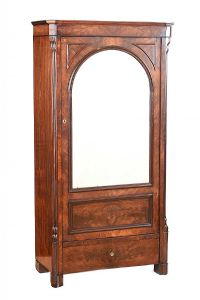 BIEDERMEIER MIRROR DOOR WARDROBE at Ross's Auctions