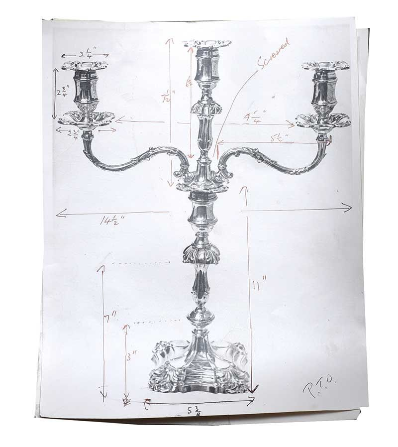PAIR OF VICTORIAN SILVER CANDELABRA at Ross's Online Art Auctions