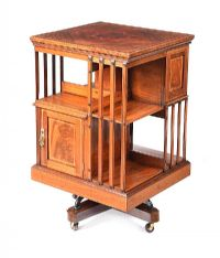 EDWARDIAN INLAID MAHOGANY REVOLVING BOOKCASE at Ross's Auctions