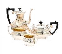 FOUR PIECE SILVER TEA SERVICE at Ross's Auctions
