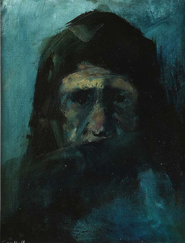 SPANISH TRAVELLER by George Campbell RHA RUA at Ross's Online Art Auctions