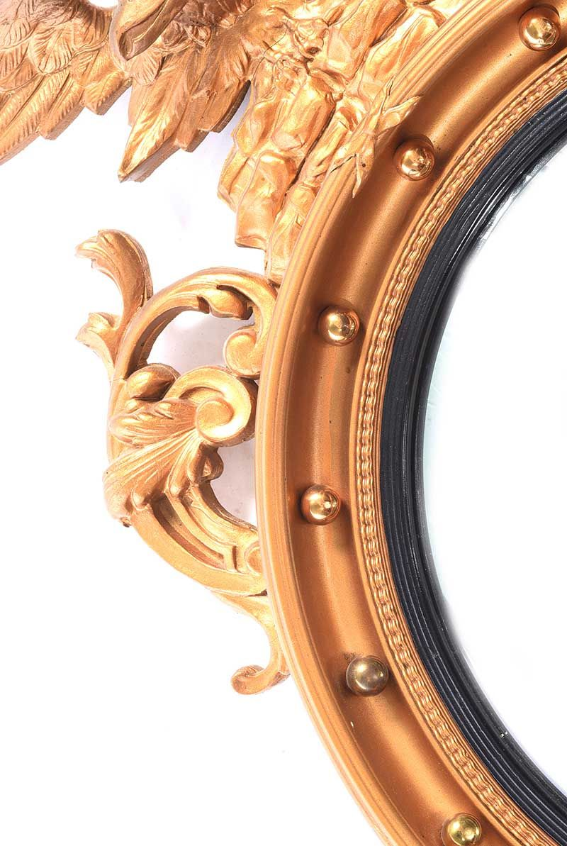 GILT CONVEX MIRROR at Ross's Online Art Auctions