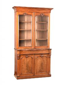 VICTORIAN MAHOGANY TWO DOOR BOOKCASE at Ross's Auctions