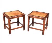 PAIR OF MAHOGANY LEATHER TOP LAMP TABLES at Ross's Auctions