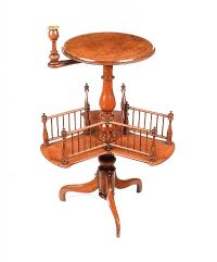 VICTORIAN WALNUT LAMP TABLE at Ross's Auctions