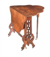 VICTORIAN BURR WALNUT SUTHERLAND TABLE at Ross's Auctions