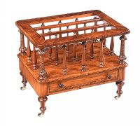 VICTORIAN WALNUT MUSIC CANTERBURY/ MAGAZINE RACK at Ross's Auctions