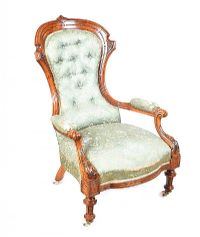VICTORIAN WALNUT ARMCHAIR at Ross's Auctions