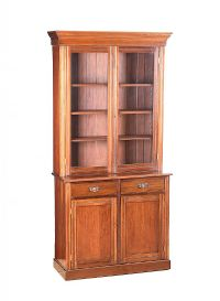 EDWARDIAN MAHOGANY TWO DOOR BOOKCASE at Ross's Auctions
