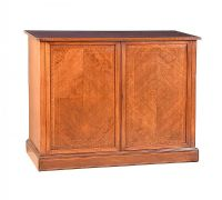EDWARDIAN INLAID MAHOGANY TWO DOOR SIDE CABINET at Ross's Auctions