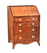 GEORGIAN MAHOGANY BUREAU at Ross's Auctions