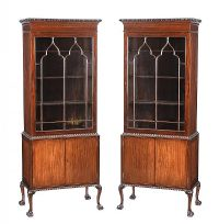 PAIR OF MAHOGANY DISPLAY CABINETS at Ross's Auctions