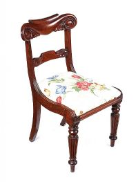 WILLIAM IV MAHOGANY SIDE CHAIR at Ross's Auctions