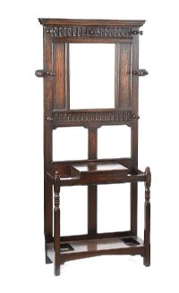 ANTIQUE OAK HALL STAND at Ross's Auctions