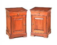 PAIR OF MAHOGANY BEDSIDE PEDESTALS at Ross's Auctions