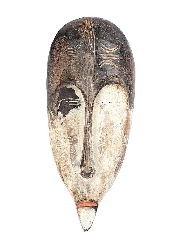 VINTAGE GABON WEST AFRICAN LONG MASK at Ross's Online Art Auctions