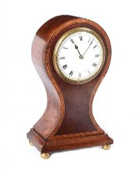 EDWARDIAN INLAID MANTEL CLOCK at Ross's Auctions