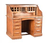 VICTORIAN OAK ROLL TOP DESK at Ross's Auctions
