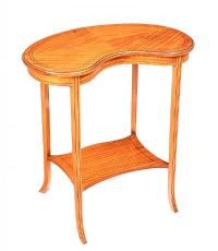 EDWARDIAN SATINWOOD KIDNEY SHAPED OCCASIONAL TABLE at Ross's Auctions