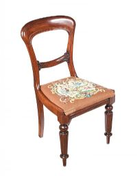 VICTORIAN MAHOGANY SIDE CHAIR at Ross's Auctions