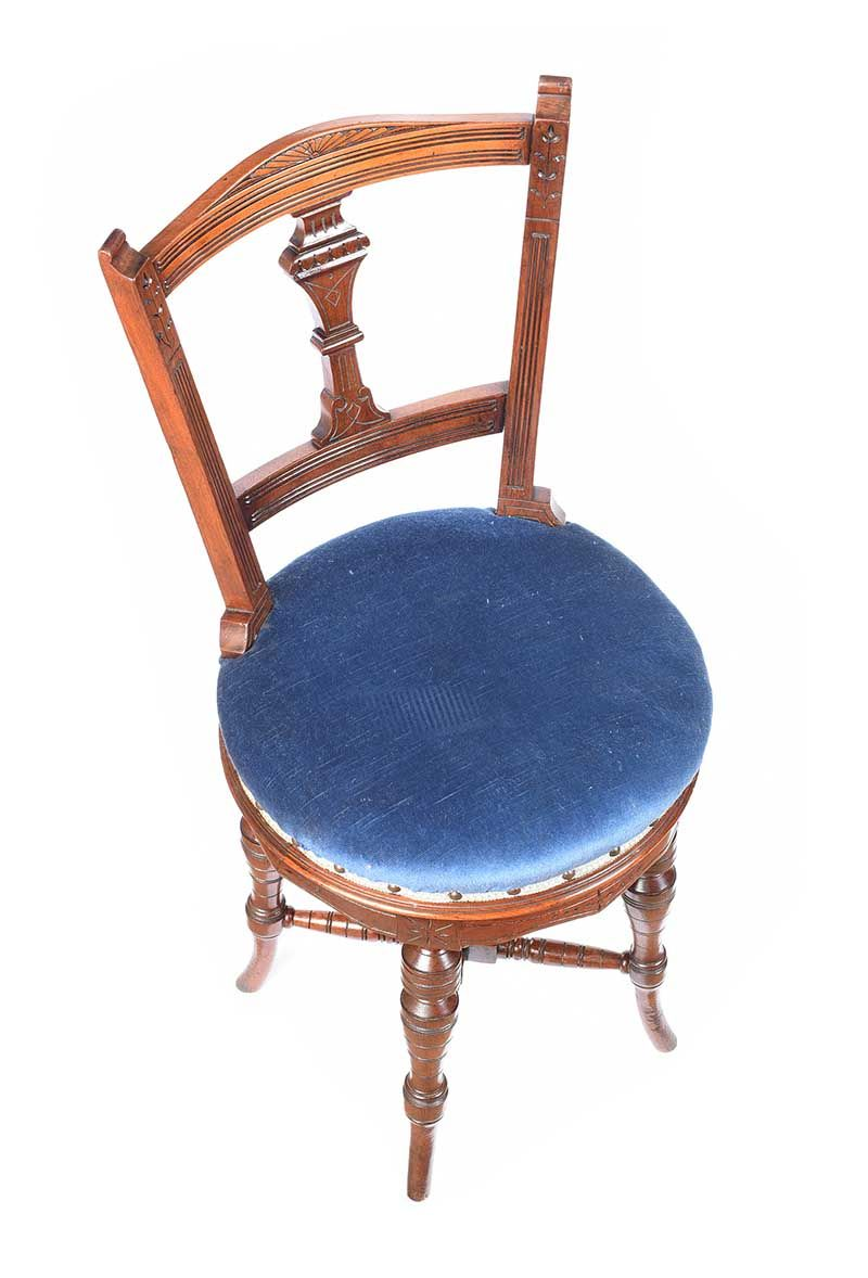 VICTORIAN MAHOGANY MUSIC CHAIR at Ross's Online Art Auctions