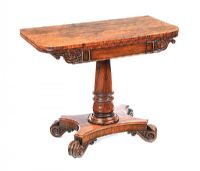 WILLIAM IV TURN OVER LEAF CARD TABLE at Ross's Auctions