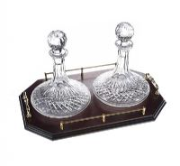 PAIR OF WATERFORD CRYSTAL SHIP'S DECANTERS at Ross's Online Art Auctions
