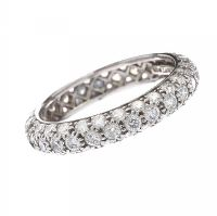 TIFFANY & CO. 18CT WHITE GOLD FULL ETERNITY RING at Ross's Jewellery Auctions