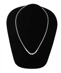 18CT WHITE GOLD GRADUATED TENNIS NECKLACE at Ross's Auctions
