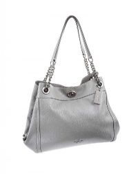 COACH GREY LEATHER HANDBAG at Ross's Jewellery Auctions