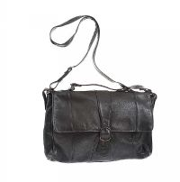BLACK LEATHER SATCHEL BY 'SELVA' BRAZIALIAN LEATHER at Ross's Jewellery Auctions