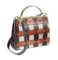 VINTAGE 1970'S SNAKESKIN PATCHWORK HANDBAG at Ross's Jewellery Auctions