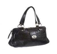 SPORTMAX BLACK LEATHER HANDBAG at Ross's Jewellery Auctions
