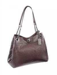 COACH BURGUNDY LEATHER HANDBAG at Ross's Auctions