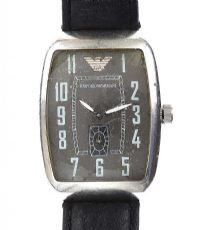 EMPORIO ARMANI STAINLESS STEEL GENT'S WRIST WATCH at Ross's Jewellery Auctions