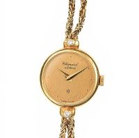 CHOPARD 18CT GOLD DIAMOND LADY'S WRIST WATCH at Ross's Jewellery Auctions
