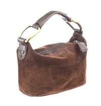 MAXMARA BROWN SUEDE AND LEATHER HANDBAG at Ross's Jewellery Auctions
