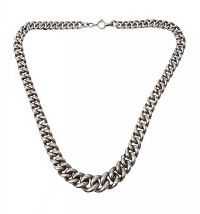 HEAVY SILVER GRADUATED CHAIN at Ross's Jewellery Auctions