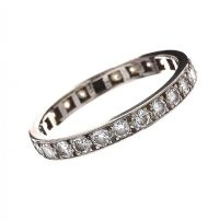 PLATINUM DIAMOND ETERNITY RING at Ross's Jewellery Auctions
