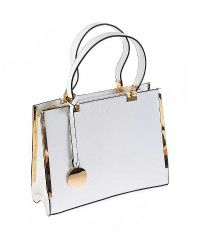 ITALIAN WHITE LEATHER HANDBAG at Ross's Jewellery Auctions