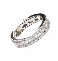 14CT WHITE GOLD FULL ETERNITY RING at Ross's Jewellery Auctions