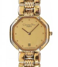 CHRISTIAN DIOR PLATED WRIST WATCH at Ross's Jewellery Auctions