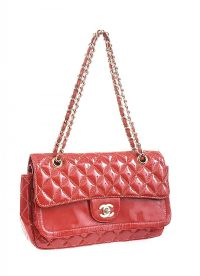 CHANEL RED LEATHER HANDBAG at Ross's Jewellery Auctions
